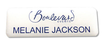 Standard Name Badges - No border and white background | www.namebadgesinternational.ca